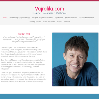 Vajralila – Counselling & Psychotherapy Website